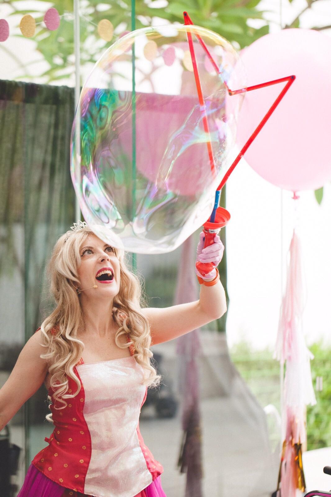 Spectacle bulle de savon
